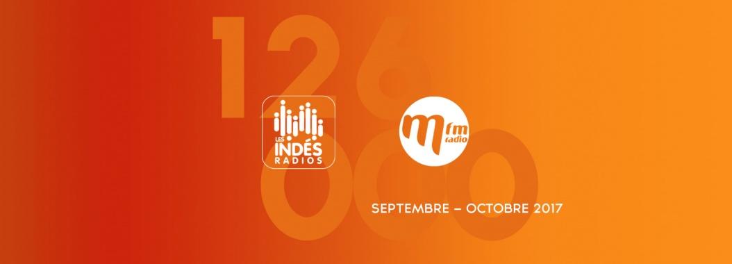 audiences 126 000 126000 indés radio mfm septembre-octobre 2017