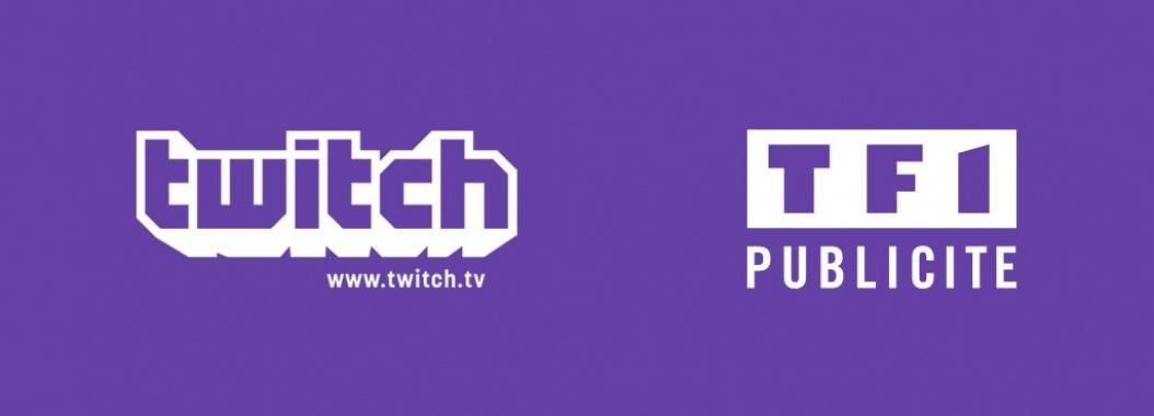 Twitch et TF1 Publicité blanc sur violet 21/9