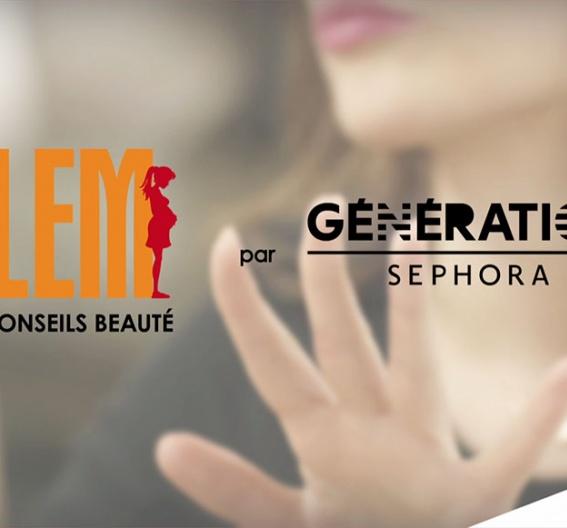 Génération SEPHORA endorse Clem pour prodiguer des conseils beauté avec des tutos vidéos