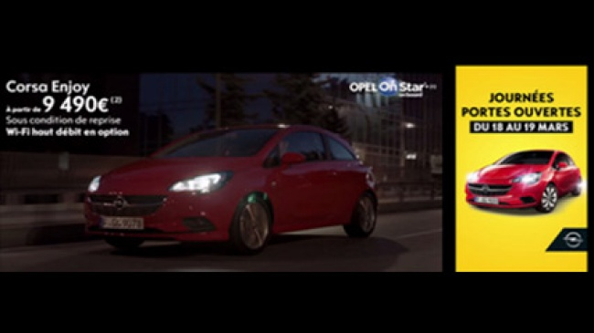 opel corsa inaugure l 39 offre dual screen de tf1 publicit avec carat france. Black Bedroom Furniture Sets. Home Design Ideas